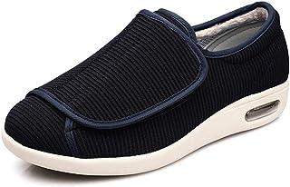 chenhe Vieillard Botte Large Taille,Engrais,Chaussures élargies,réglables par Velcro,Chaussures de Marche antidérapantes,P...