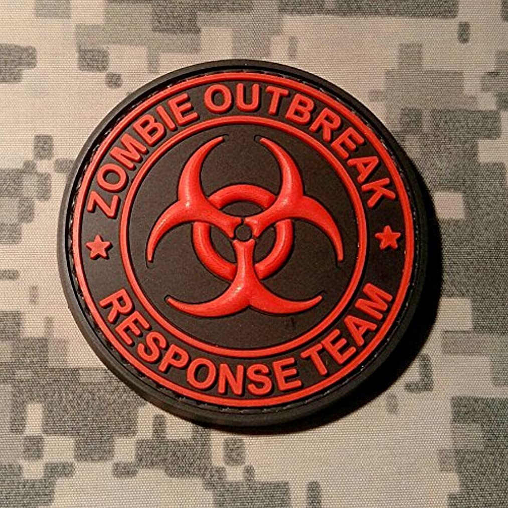 ZOMBIE OUTBREAK RESPONSE TEAM - NEW COLOR - PVC Rubber Morale Patch by NEO Tactical Gear Morale Patch - Hook Backed