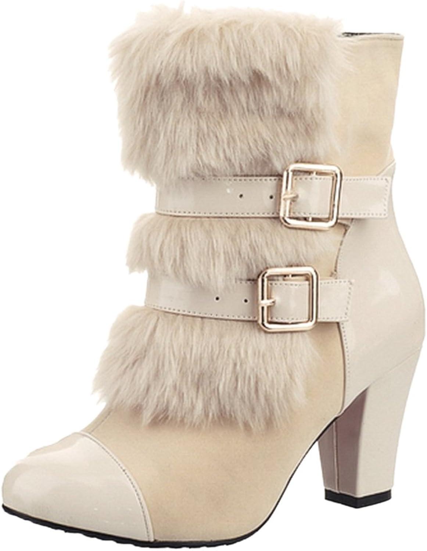 FANIMILA Women Heels Boots Pull On