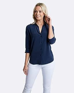 The Fable Women's Deep Sea Silk Shirt