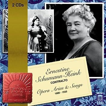 Opera Arias (Contralto): Schumann-Heink, Ernestine - Mehrkens, A. / Arditi, L. / Schubert, F. / Wagner, R. / Meyerbeer, G. (1900-1935)