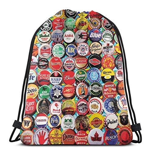 N/W World - Juego de tapas para botellas de cerveza con cordón, multiusos, bolsa de cuerda, mochila duradera, bolsa de deporte, ligera, bolsa de almacenamiento para mujeres, hombres y montañistas