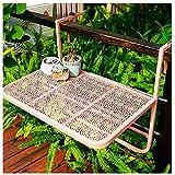 Ldfzq Verstellbarer Wandtisch Hängender Balkontisch/Tragbarer Klappbarer Esstisch Couchtisch Für Außen Terrasse Geländer Gartenmöbel
