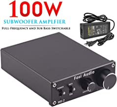 Fosi Audio Subwoofer Amplifier Mono Channel Amp Home Theater Power Amplifier 100W M02