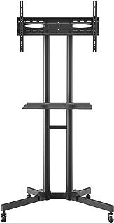BONTEC TV Standaard Verrijdbaar voor 30-70 inch LCD LED plasma TV, TV Standaard Wieltjes tot 50kg, TV trolley op Wielen Ma...
