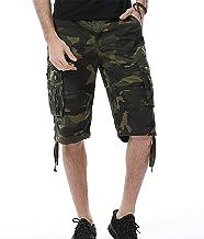JYK-LQM Men's Lightweight Multi Pocket Casual Cargo Shorts