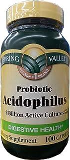 Spring Valley Probiotic Acidophilus 100ct Digestive Health