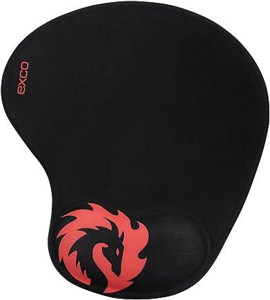 excovip Red Dragon - Almohadilla para mouse para juegos con almohadilla suave de gel de silicona para muñeca, Base antideslizante de PU, Almohadilla para mouse