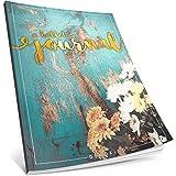 Dékokind® Bullet Journal: Ca. A4-Format • 100 Seiten, Punktraster Notizbuch mit Register • Dotted Grid Notebook, Punktkariertes Papier, Zeichenbuch • ArtNr. 49 Vintage Flowers • Vintage Softcover
