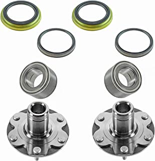 Front Wheel Bearing & Hub Kit with Inner & Outer Wheel Seals for 1996-2002 Toyota 4Runner / 2001-2007 Sequoia / 1995-2004 Tacoma / 2000-2006 Tundra / 4x4 4 Wheel Drive Trucks