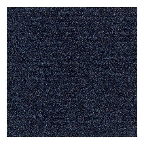 Goedkope Luxe Tango Premium tapijttegels, zelfliggend geribbelde tegels blauw