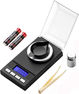Zilink Precision Milligram Scale for Powder 100g / 0.001g Pro Pill Lab Powder Weight Reloading Scale with Back-lit LCD Display Auto Off Tare Function