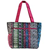World Traveler 13.5 Inch Beach Bag, Bohemian, One Size