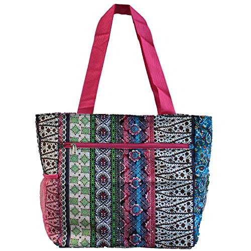 World Traveler 13.5 Inch Beach Bag, Bohemian, One Size