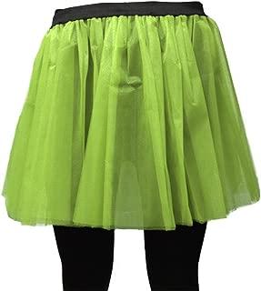 A-Express Damen Lange 36cm Tütü Rock Neon Tutu Netz Tüllrock 3 Lagen Petticoat für verrücktes Kleid Party Kostüm