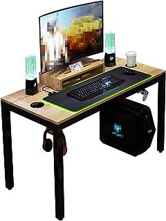 DlandHome Tout-en-Un PC Gaming Table Bureau pour Ordinateur de Jeu Pro avec Tapis de Souris de Jeu à LED RVB (90 * 35.5CM)...