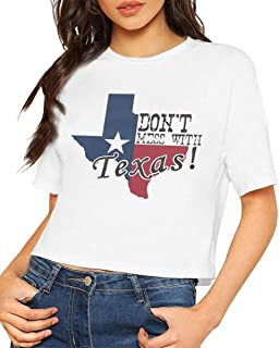 Womens Crop Tops Dont Mess with Texas Short Sleeves T Shirts