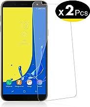 NEW'C Lot de 2, Verre Trempé pour Samsung Galaxy J6 2018 (SM-J600F) Film Protection écran - Anti Rayures - sans Bulles d'air -Ultra Résistant (0,33mm HD Ultra Transparent) Dureté 9H Glass
