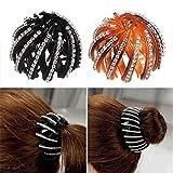 cuhair Lot de 2 pinces à cheveux en strass pour femme