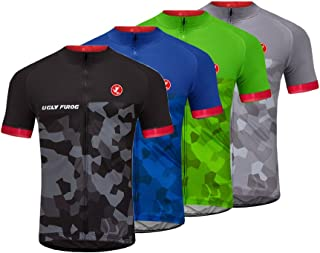 Uglyfrog 2018 Mens Short Sleeve Cycling Jersey Outdoor Sports Summer Style Bike Clothes Top CCJ11