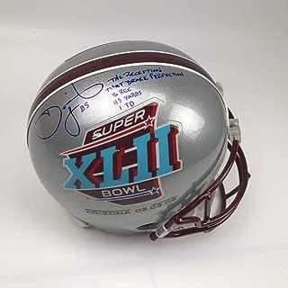 Autographed/Signed David Tyree Inscribed Super Bowl XLII Full Size FS F/S Replica Football Helmet PSA/DNA COA