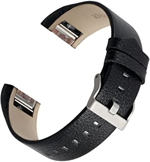 for Fitbit Charge 2 Bands, bayite Genuine Leather Replacement Wristbands for Fitbit Charge 2, Large Small 10