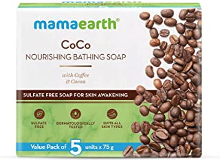 Mamaearth CoCo Nourishing Bathing Soap with Coffee & Cocoa – 5x75g