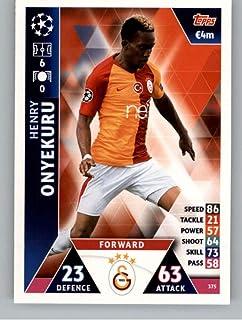 2018-19 Topps UEFA Champions League Match Attax #375 Henry Onyekuru Galatasaray S.K. Official Futbol Soccer Card