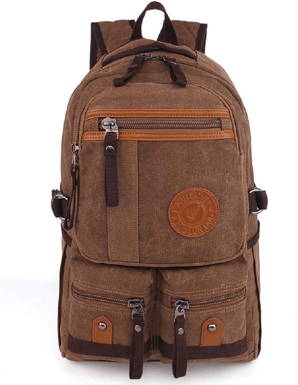 HhGold HhGold HhGold Canvas School Bookbag Vintage Rucksack für Laptop Reise Rucksack für Männer (Farbe   Braun) B07H3NGQ6Z  Vielfältiges neues Design 6b40a5