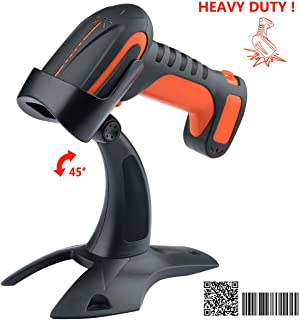 Tera Wireless Barcode Scanner 1D 2D QR Code Reader, Bluetooth Compatible & 2.4G Wireless, 2200 mAh Built-in Batteries, Extreme Drop Resistance for Windows, Mac, Android, iOS, PC, Smartphones, Tablets