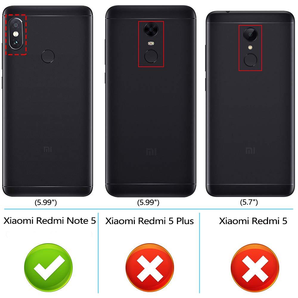 Peakally Funda Xiaomi Redmi Note 5 / Note 5 Pro, Carcasa Cuero PU Fundas Xiaomi Redmi Note 5 / Xiaomi Redmi Note 5 Pro [Stand Function] [Cierre Magnético] Piel Carcasa con Concha