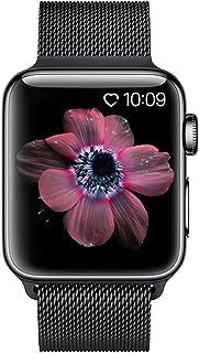 BRG コンパチブル apple watch バンド,ミラネーゼループ コンパチブルアップルウォッチバンド コンパチブル アップルウォッチ4 コンパチブルapple watch series4/3/2/1に対応 ステンレス留め金製(42mm/44mm,ブラック)
