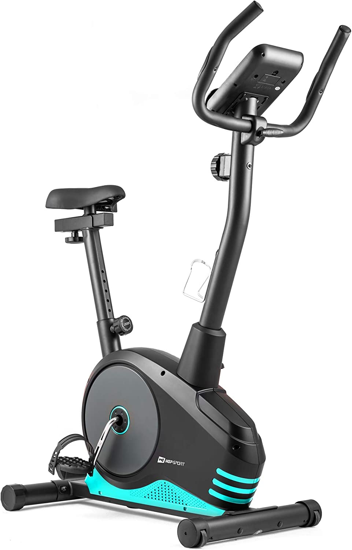 Hop-Sport Spark Heimtrainer Fahrrad Fitnessger/ät f/ür Zuhause mit Pulssensoren /& Computer Schwungmasse 9 kg 8 Widerstandsstufen Fitnessbike f/ür EIN max Nutzergewicht von 120kg