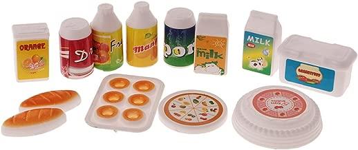 MagiDeal 12 Pezzi Casa di Bambole Miniatura Cibo Cucina Piatti Vasellame Accessori Giocattoli Bambini Plastico
