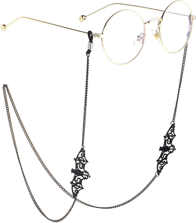 Hollow-out Bat Eyeglasses Chain Metal Glasses Retainer Eyeglass Holder Strap Cord
