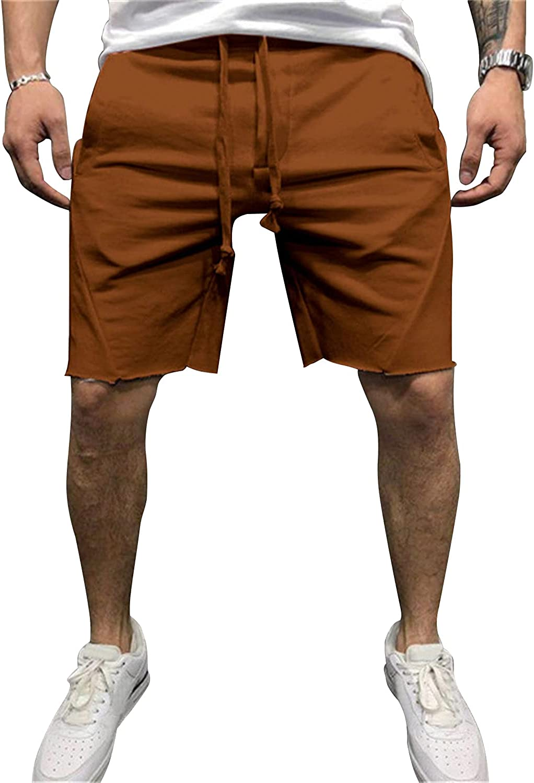 Men's Elastic 40% OFF Cheap Sale Waist Casual Jogger Great interest Shorts Gym Drawstring Lightwei