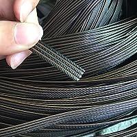 合成籐素材、丸籐/フラット籐3 / 8mm500gコーヒーグラデーションフラットプラスチック籐編み修理椅子テーブル家庭用収納ボックス家具 (Color : N(8mm))