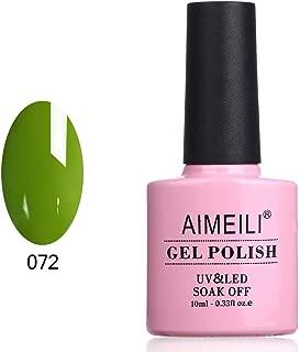 AIMEILI Soak Off UV LED Gel Nail Polish - Greenery (072) 10ml
