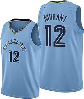 Hanhua Mens Women Tracksuits Basketball Jerseys 12# Morant Sweatshirts Sportswear Casual Gym Sports Running Training Embro...