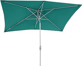 SORARA Parasol Sombrilla Jardin/Terraza/Patio | Verde | 300 x 200 cm (3 x 2 m) | Rectangular Porto | Poliéster de 180 g/m² (UV 50+) | Mecanismo De Péndulo Y Manivela (excl. Base)