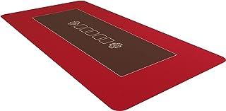 Bullets Playing Cards Professionele pokermat rood in 160 x 80 cm voor de eigen pokertafel - Deluxe pokerdoek - pokermat - ...