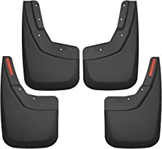 Husky Liners Fits 2014-18 Chevrolet Silveado 1500, 2019 Chevrolet Silverado 1500 LD, 2015-19 Chevrolet Silverado 2500/3500 - SINGLE REAR WHEELS Custom Front and Rear Mud Guard Set