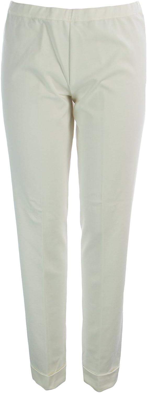 Marina Rinaldi Women's Oboista Classic Jersey Pants White