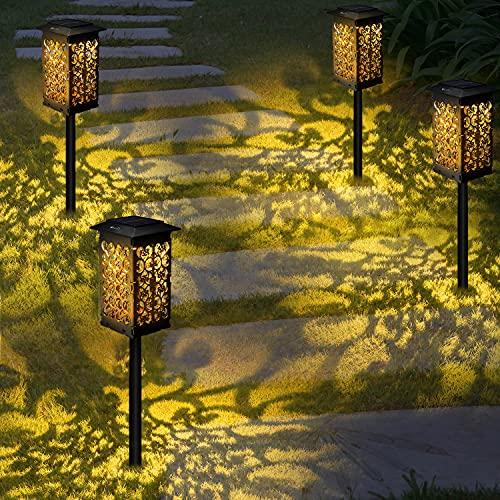 Luce Solare LED Esterno,OxyLED 4pcs PieghevoleLED Luci Solari Giardino,Cambia Colore Lampade da Esterno per Prato,Decorativo LED Lampade Solari,IP65 Impermeabile Solari Luce Paesaggio Strade