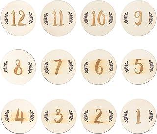 STOBOK Cartes Mensuelles de Bébé Cartes de Numéro de Mois de Naissance de Bébé Anniversaire Bébé Créatif Commémorent Les A...