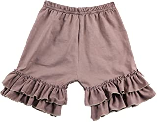 Wennikids Toddler Baby Girls Cotton Double Ruffle Shorts Pants 1-8t