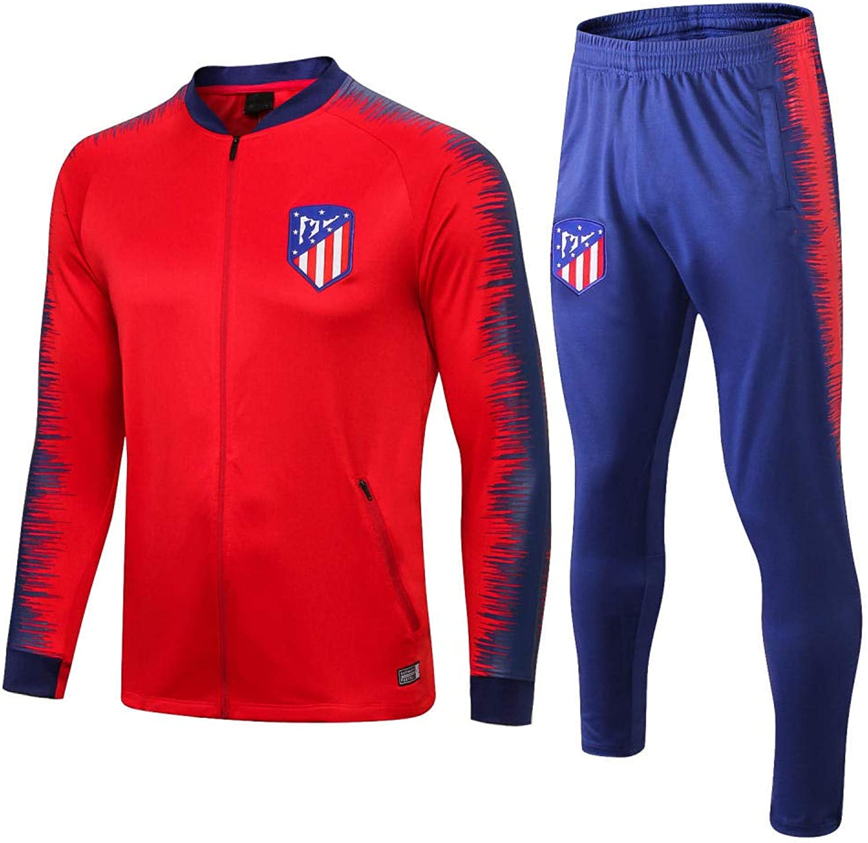 Zhaojiexiaodian 18-19 Atletico Coat Trainingsanzug mit Langen rmeln Freizeitjacke Fuballanzug Set Herren