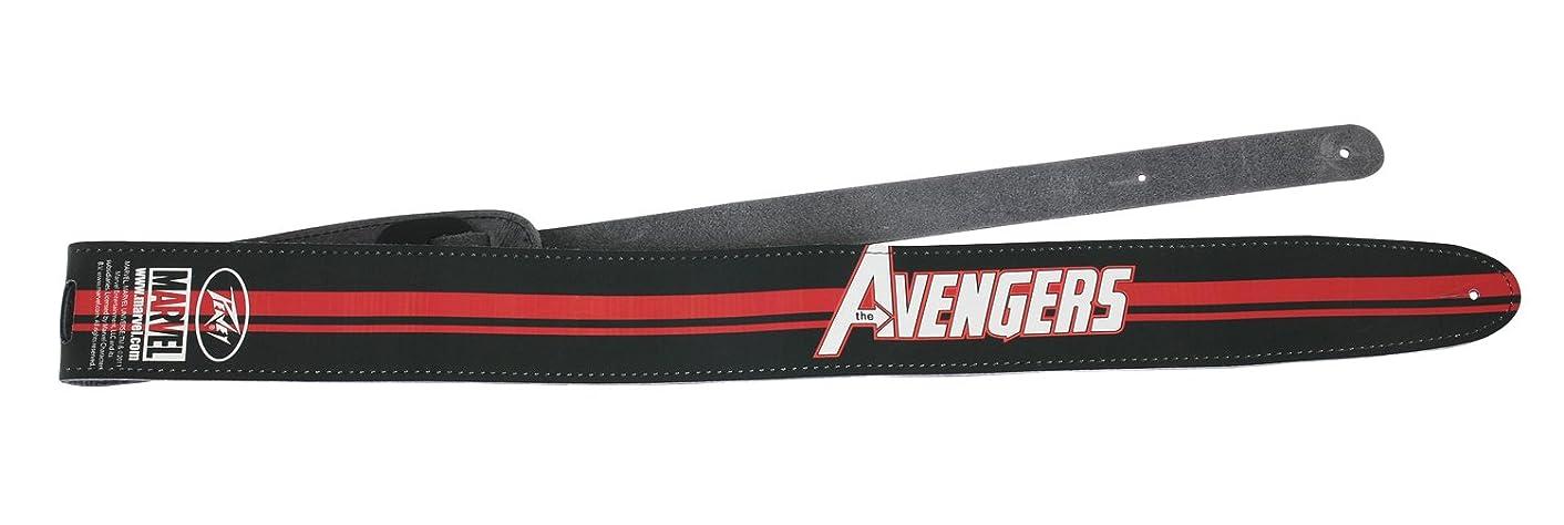 Peavey 3016020 Avengers Logo?Leather Guitar Strap