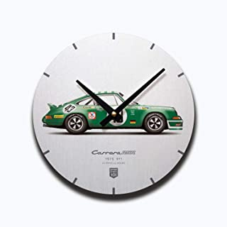 GarageProject101 1973 Classic 911 Carrera RSR (Le Mans 24 Hours) Illustration Wall Clock