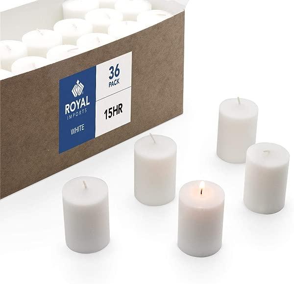 Royal Imports Votive Candle 无味白蜡盒 36 支用于婚礼生日节日家居装饰 15 小时